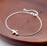 Airplane Sterling Silver Chain Bracelet