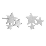 Silver Star Cluster Studs