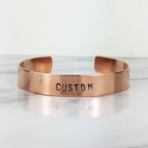 Thick Copper Custom Cuff Bracelet