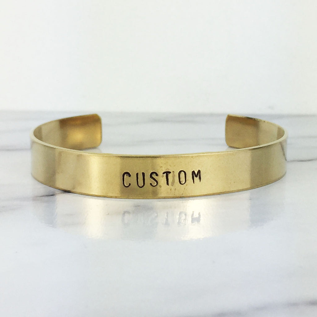Thick Gold Custom Cuff Bracelet