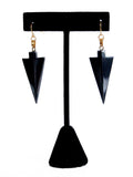 Black Hematite Gemstone Arrowhead Earrings