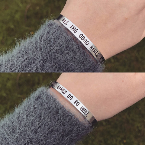 "Billie Eilish ""All The Good Girls Go To Hell"" Bracelet"