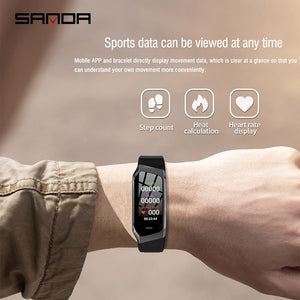 SANDA  watch Touch Screen Sport Smartwatch Heart Rate Tracker Blood Pressure Waterproof Clock for IOS Android