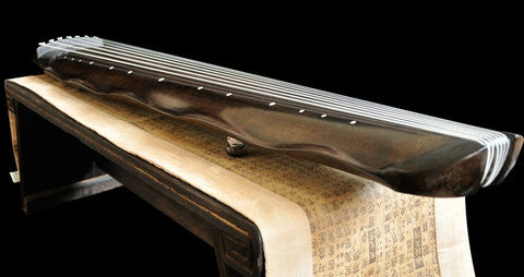 Buy Concert Grade Aged Fir Wood Guqin Chinese 7 String Instrument Banana Leaf Style