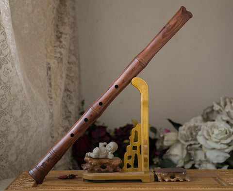 Professional Level Rosewood Flute Nan Xiao Instrument Chinese Shakuhachi Tang Style Mouthpiece