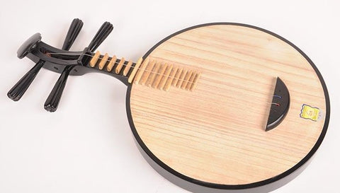 Buy Beginner Level Maple Yueqin Instrument Chinese Moon Guitar