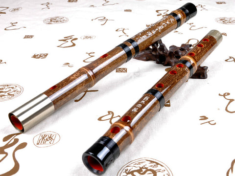 Buy Concert Grade Chinese Purple Bamboo Flute Dizi Instrument with Accessories