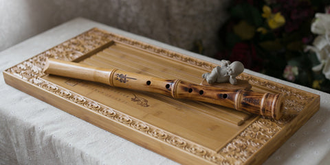 Professional Level Beech Wood Flute Nan Xiao Instrument Chinese Shakuhachi Tang Style Mouthpiece