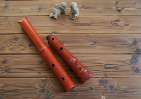 Professional Level Rosewood Flute Japanese Shakuhachi Instrument 5 Holes 2 Sections