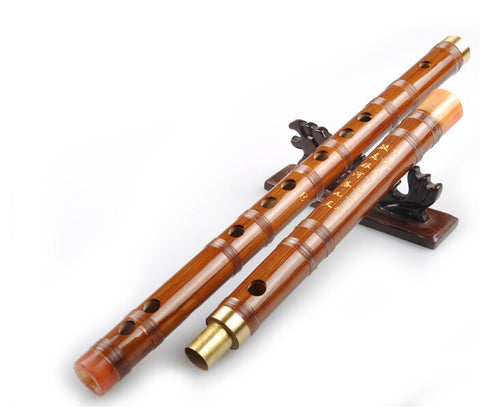 Study Level Chinese Bitter Bamboo Flute Dizi Instrument with Accessories