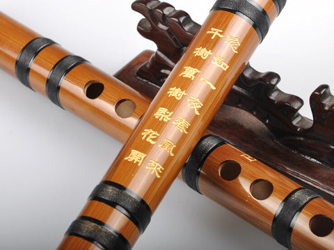 Beginner Level Chinese Bitter Bamboo Flute Dizi Instrument 2 Sections