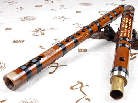 Buy Professional Level Chinese Bitter Bamboo Flute Dizi Instrument with Accessories 2 Sections