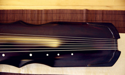 Concert Grade Aged Fir Wood Guqin Chinese 7 String Zither Fu Xi Style