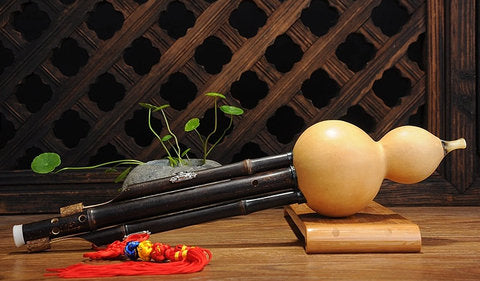 Buy Study Level Chinese Yunnan Free Reed Gourd & Bamboo Flute Hulusi Instrument