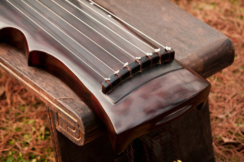 Concert Grade Aged Fir Wood Guqin Chinese 7 String Instrument Feng Shi Style