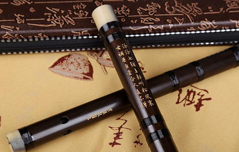 Buy Concert Grade Chinese Laos Acid Wood Flute Dizi Instrument with Accessories