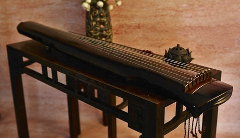 Buy Professional Aged Fir Wood Guqin Instrument Chinese 7 String Zither Ling Ji Type