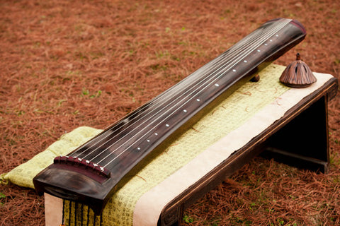 Buy Concert Grade Aged Fir Wood Guqin Chinese 7 String Zither Liang Luan Style