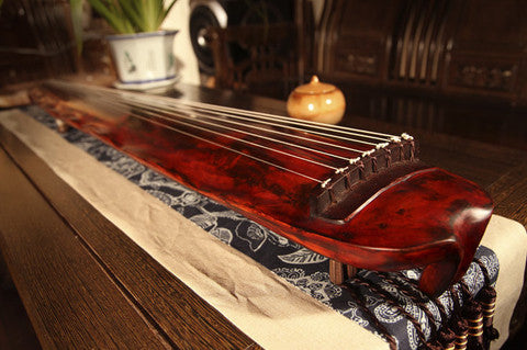Buy Premium Quality Aged Fir Wood Guqin Chinese 7 String Zither Banana Leaf Style