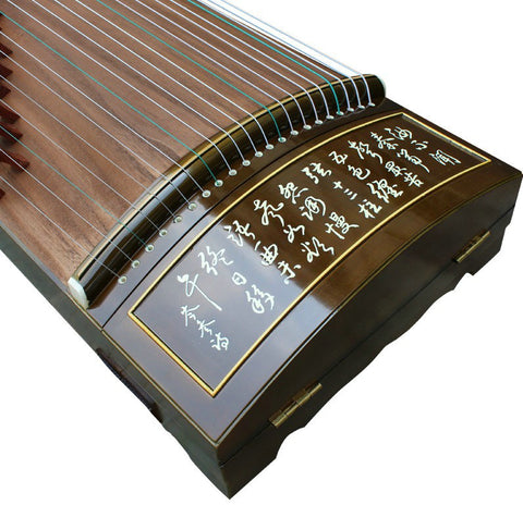 Buy Professional Characters Carved Rosewood Guzheng Instrument Chinese Koto