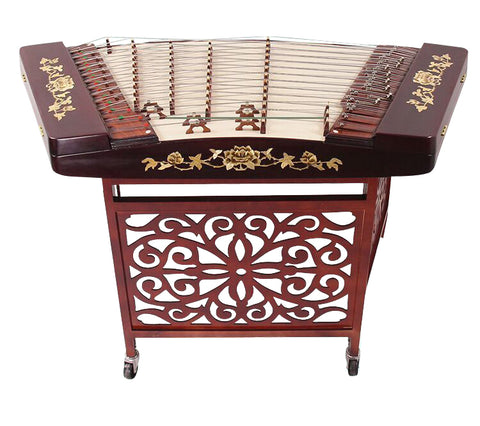 Professional Hardwood Yangqin Instrument Chinese Hammered Dulcimer with Accessories