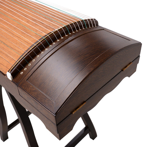 Professional Level Wenge Wood Plain Surface Guzheng Instrument Chinese Zither
