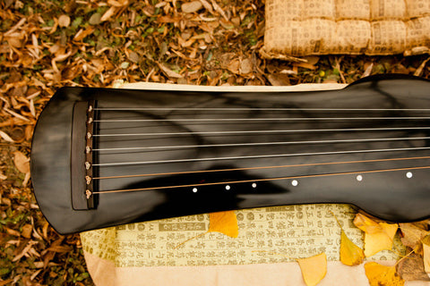 Premium Quality Aged Fir Wood Guqin Chinese 7 String Zither Shi Kuang Type