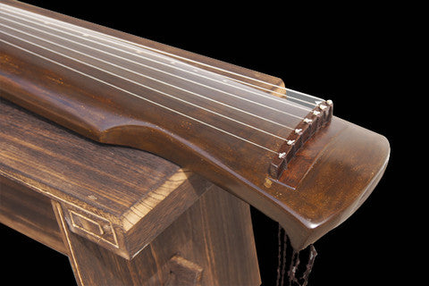Buy Exquisite Chinese 7 String Instrument Aged Fir Guqin Zither Gu Qin Fu Xi Style