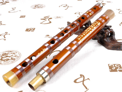Buy Concert Grade Chinese Bitter Bamboo Flute Dizi Instrument with Accessories 2 Sections