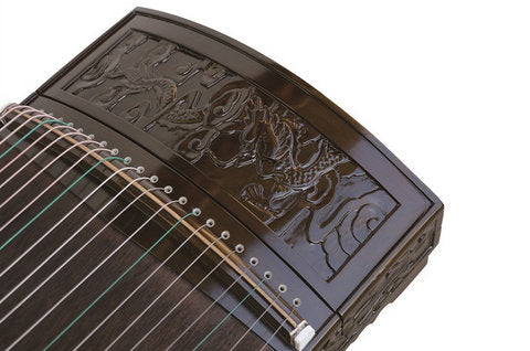 Buy Professional Carved Nanmu Guzheng Instrument Chinese Zither