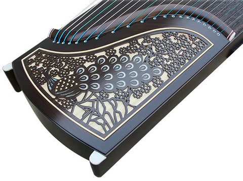Buy Professional Peacock Carved Purple Sandalwood Guzheng Chinese Zither