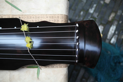 Buy Concert Grade Aged Fir Wood Guqin Chinese 7 String Instrument Banana Leaf Type