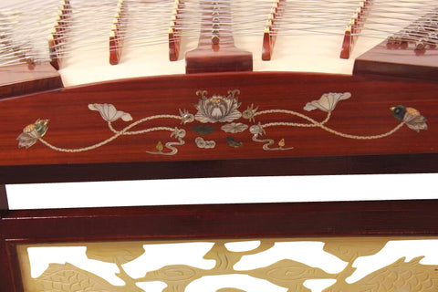 Professional Rosewood Yangqin Instrument Chinese Hammered Dulcimer with Accessories