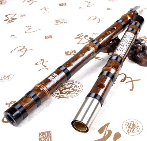 Buy Master Made Purple Bamboo Flute Chinese Dizi Instrument With Accessories