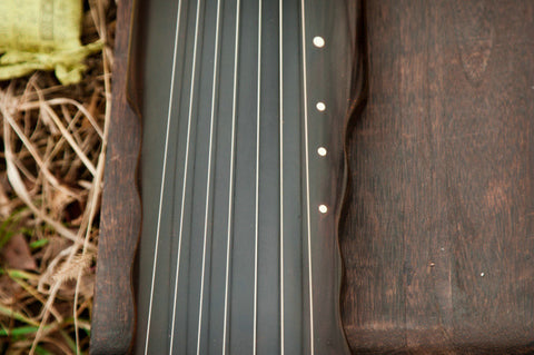 Concert Grade Aged Fir Wood Guqin Chinese 7 String Zither Lian Zhu Style