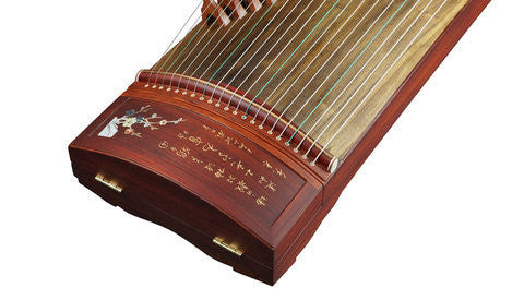 Buy Concert Grade Shell Carved Rosewood Guzheng Instrument Chinese Zither