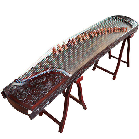 Buy Premium Quality Purple Sandalwood Dragon Guzheng Instrument Chinese Zither