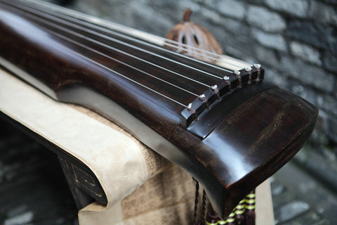 Concert Grade Aged Fir Wood Guqin Chinese 7 String Zither Shen Nong Type