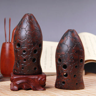 Buy Professional Level Xun Flute Chinese Ancient Musical Instrument Fish Pattern Ocarina