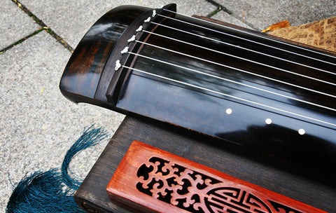 Premium Quality Aged Fir Wood Guqin Chinese 7 String Zither Zheng He Type