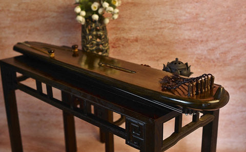 Buy Concert Grade Aged Fir Guqin Instrument Chinese 7 String Zither Hun Dun Type