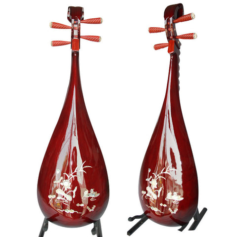 Buy Professional Shell Carved Rosewood Pipa Instrument Chinese Lute With Accessories