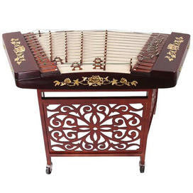 Professional Hardwood Yangqin Instrument Chinese Hammered Dulcimer 402 Type with Accessories