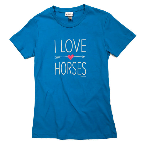 I Love Horses Stirrups Classic Short Sleeve