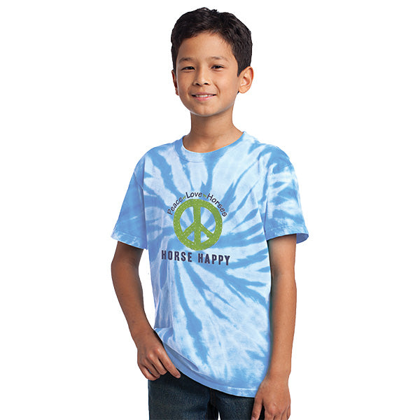 Peace Love Horses Youth Stirrups Classic Short Sleeve