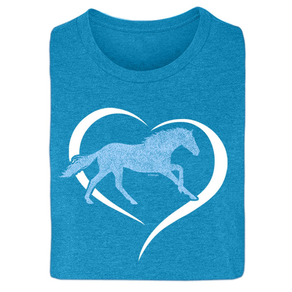 Horse in Heart Ladies Short Sleeve Tee 20105