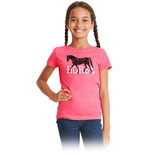 HORSE Girls Short Sleeve Tee 20164
