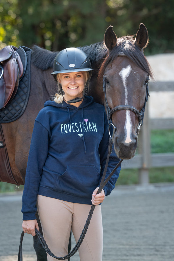 20511 - Equestrian With Heart Hoodie