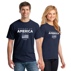 Opening Up America Again Adult Short Sleeve Tee