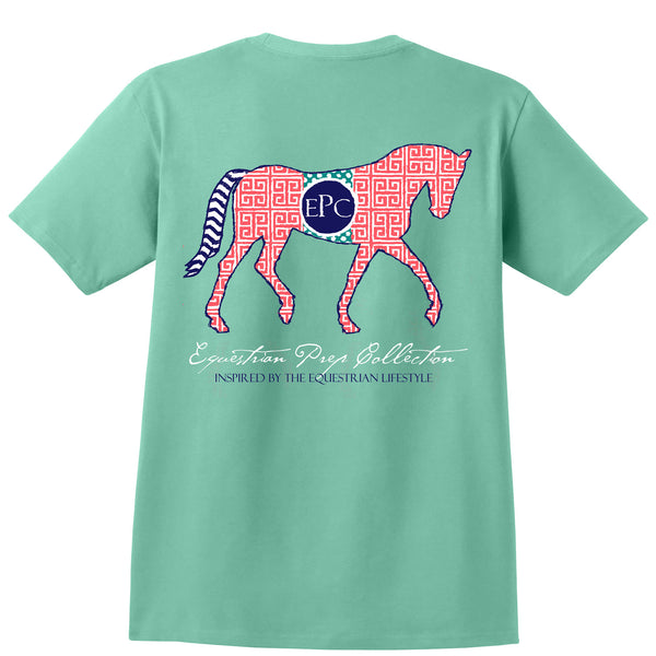 Preppy Pattern Horse - Youth Short Sleeve - EP-205